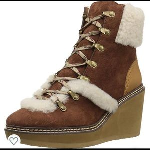 See by CHLOE Sherpa Wedge Boots